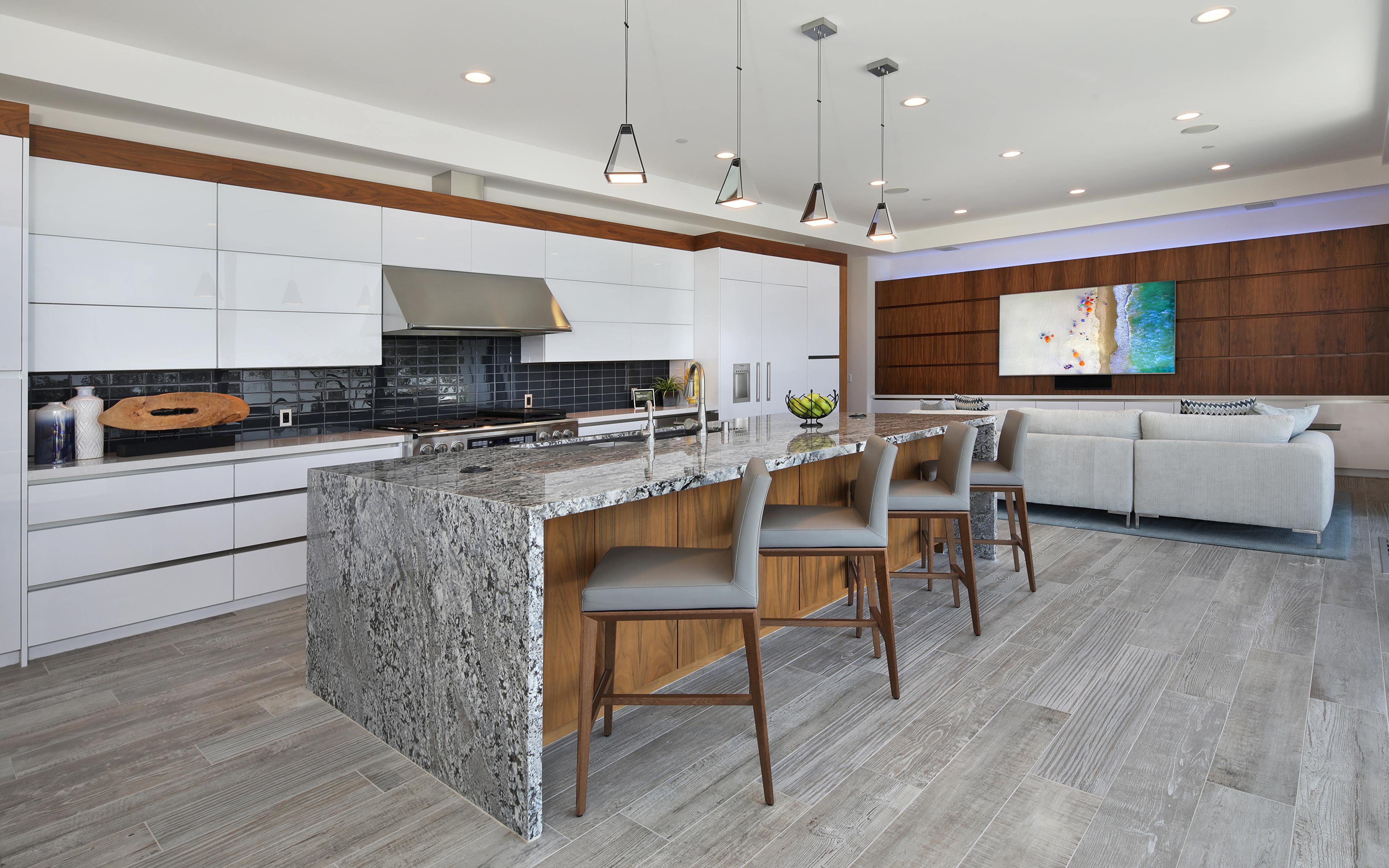 Desktop Hintergrundbilder Küche Innenarchitektur Tisch 3840x2400