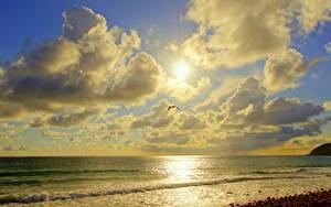 Bilder Küste Meer Kalifornien Wolke Sonne Malibu