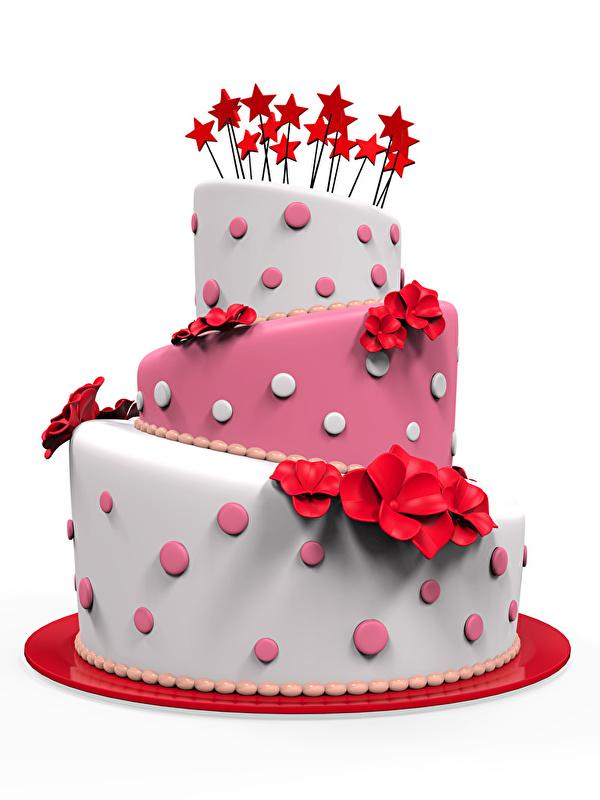 Foto Stern-Dekoration Torte 3D-Grafik Lebensmittel Süßigkeiten Weißer hintergrund Design 600x800 kleine Sterne Süßware