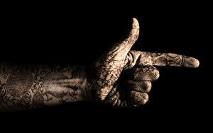 Bilder Hautnah Gestik Hand Tätowierung