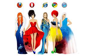 Fotos Markenartikel Vektorgrafik Internet Kleid Computers Mädchens