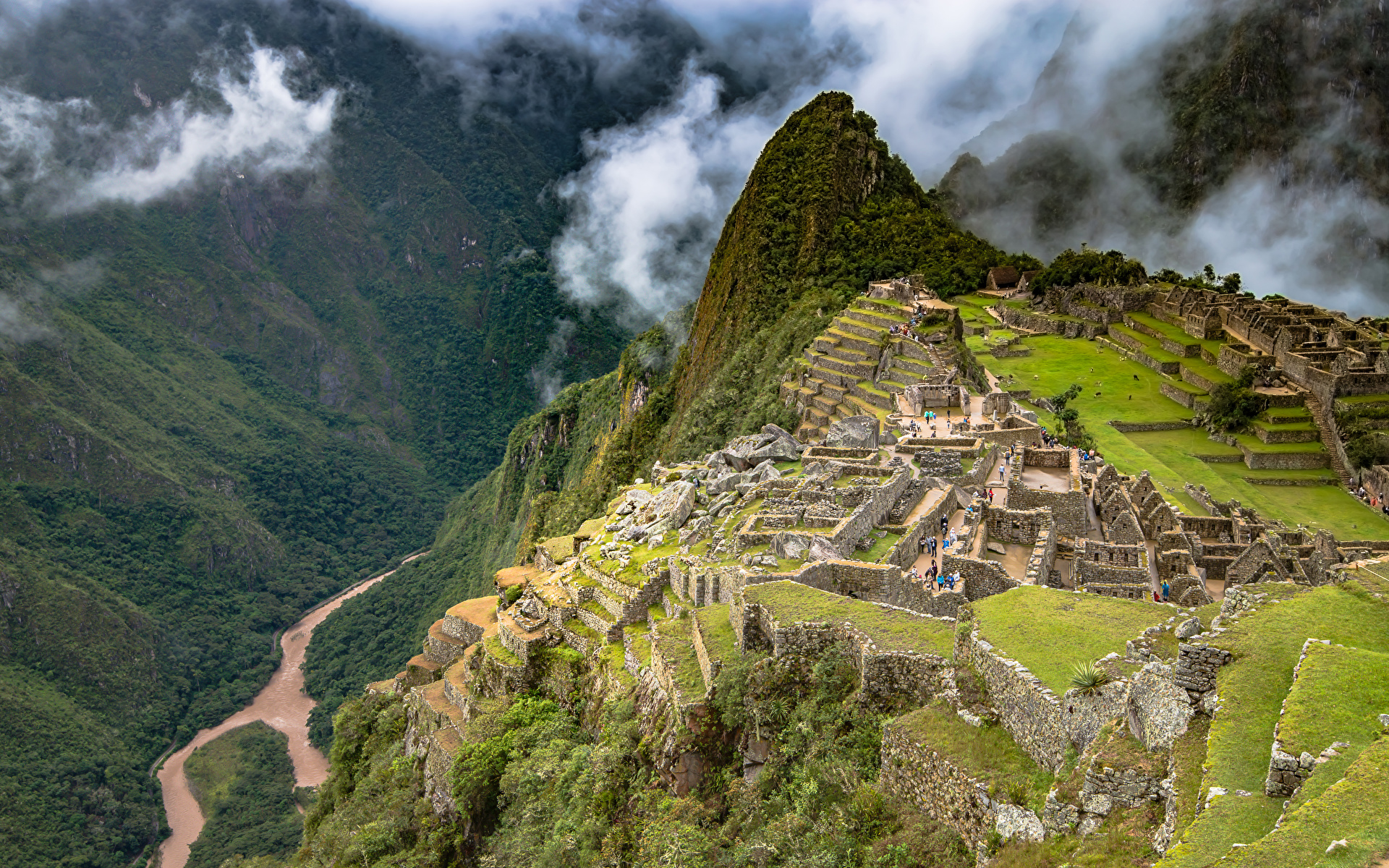 Desktop Hintergrundbilder Peru Machu Picchu Natur Gebirge Ruinen 1920x1200 Berg