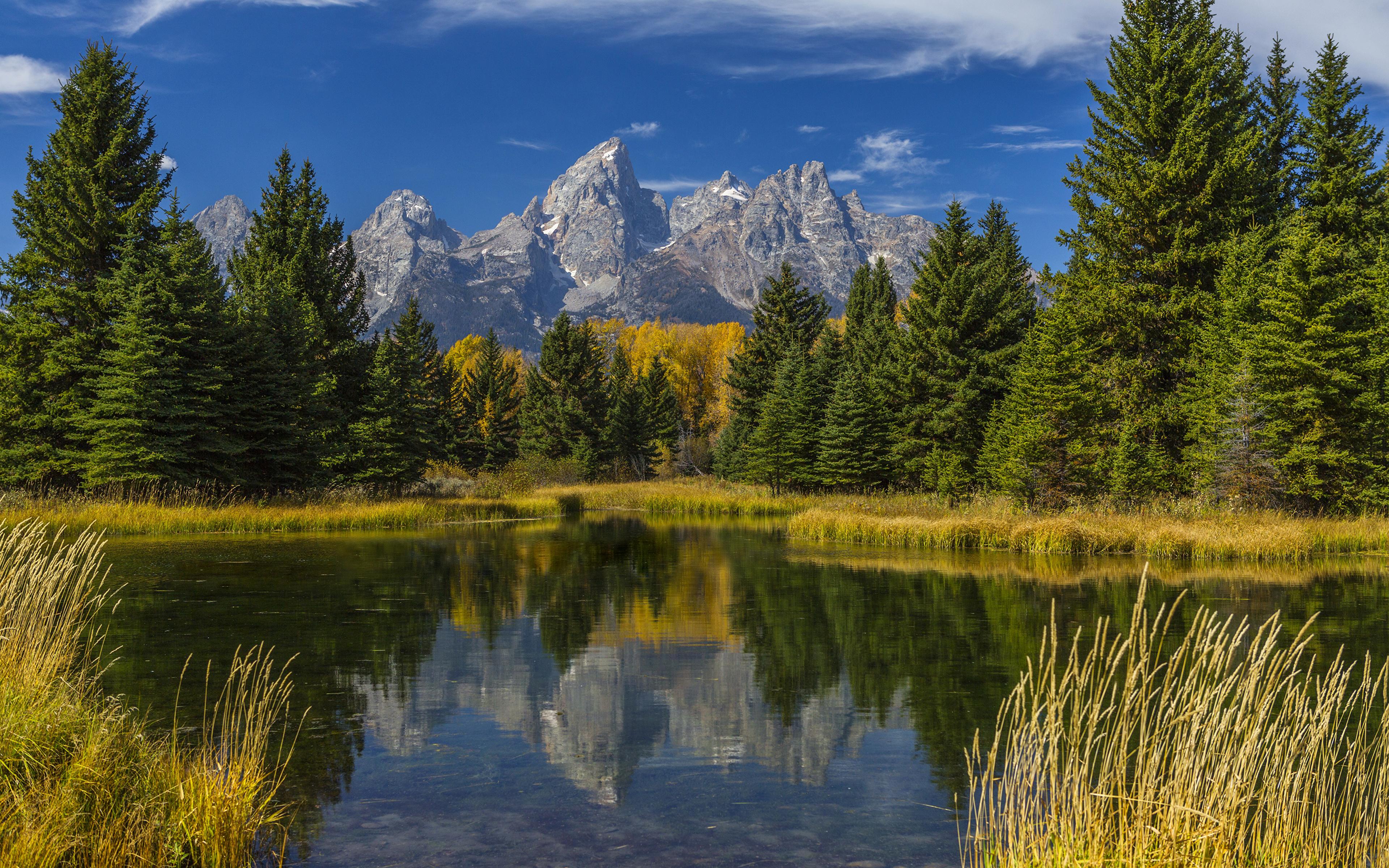 foto de Fonds d'ecran 3840x2400 USA Parc Montagnes Forêts Lac Automne ...