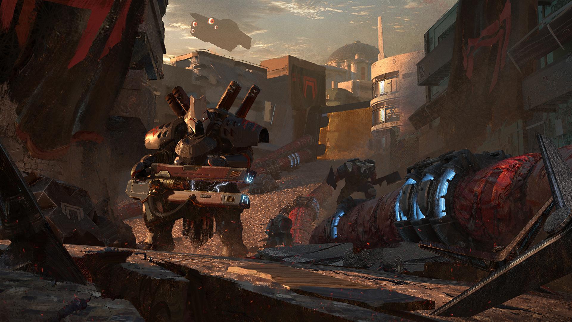 壁紙 19x1080 Destiny 2 ロボット ゲーム ファンタジー ダウンロード 写真