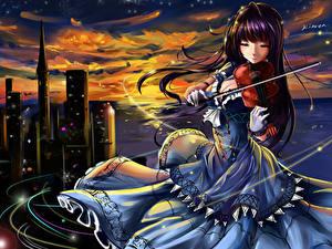 Fonds d'écran Violon Les robes kinven Anime Filles