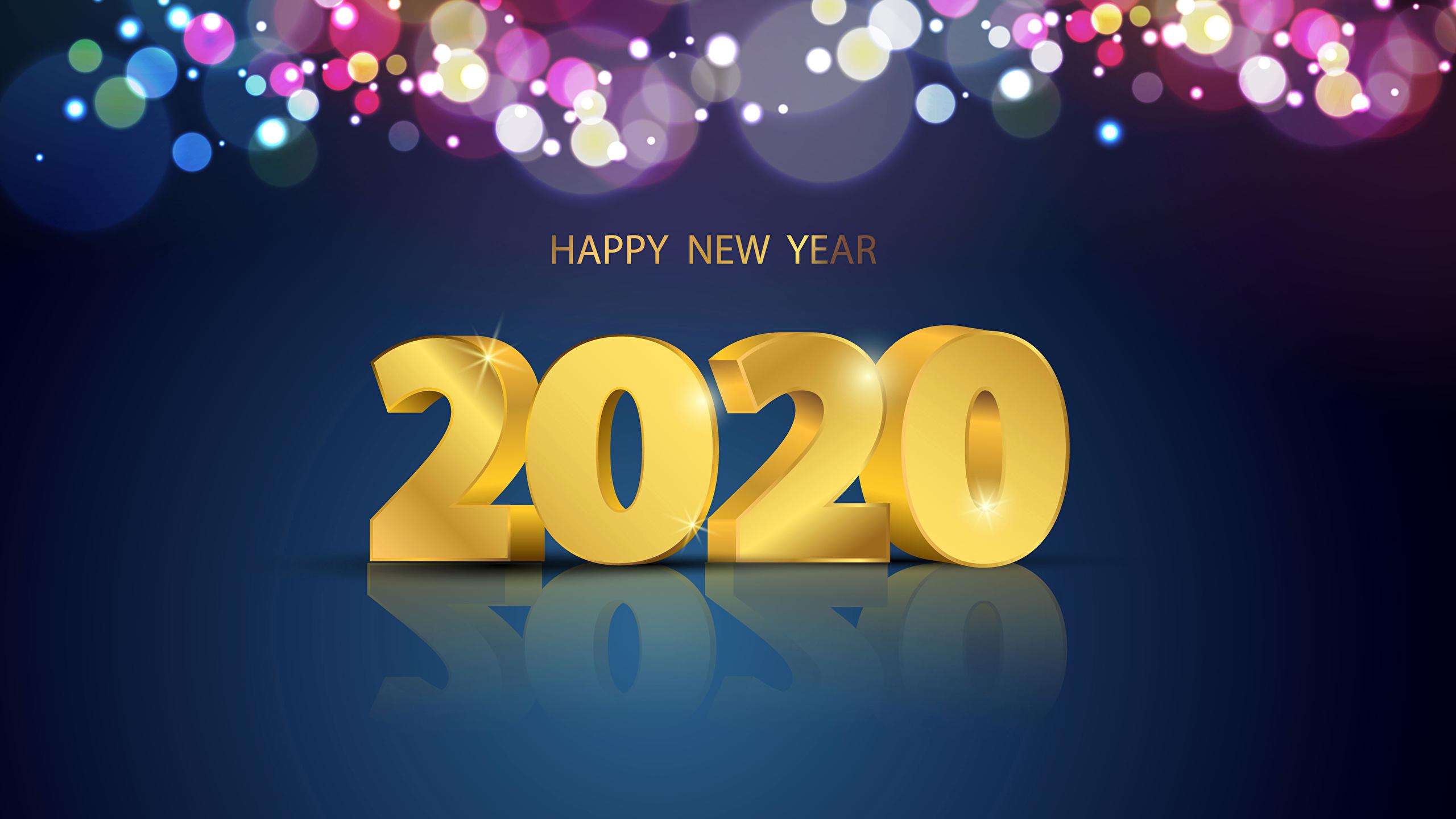 壁紙 2560x1440 新年 単語 2020 英語 ダウンロード 写真