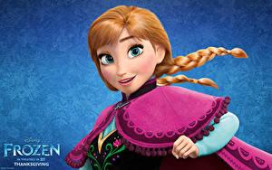 Papéis de parede Disney Frozen filme de 2013 Ruivo Meninas Nó de trança Meninas 3D_Gráfica
