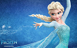 Papéis de parede Disney Frozen filme de 2013 Cabelo loiro Meninas Nó de trança Meninas 3D_Gráfica