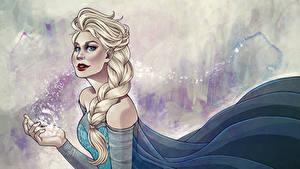 Bilder Disney Die Eiskönigin – Völlig unverfroren Zopf Elsa, Snow Queen