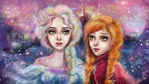 Bilder Disney Die Eiskönigin – Völlig unverfroren Zopf Zwei Mädchens