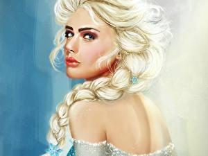 Hintergrundbilder Die Eiskönigin – Völlig unverfroren Zopf Starren Blond Mädchen Elsa Mädchens