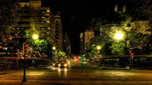 Bilder Vereinigte Staaten Haus HDR Straße Nacht Straßenlaterne Texas Austin