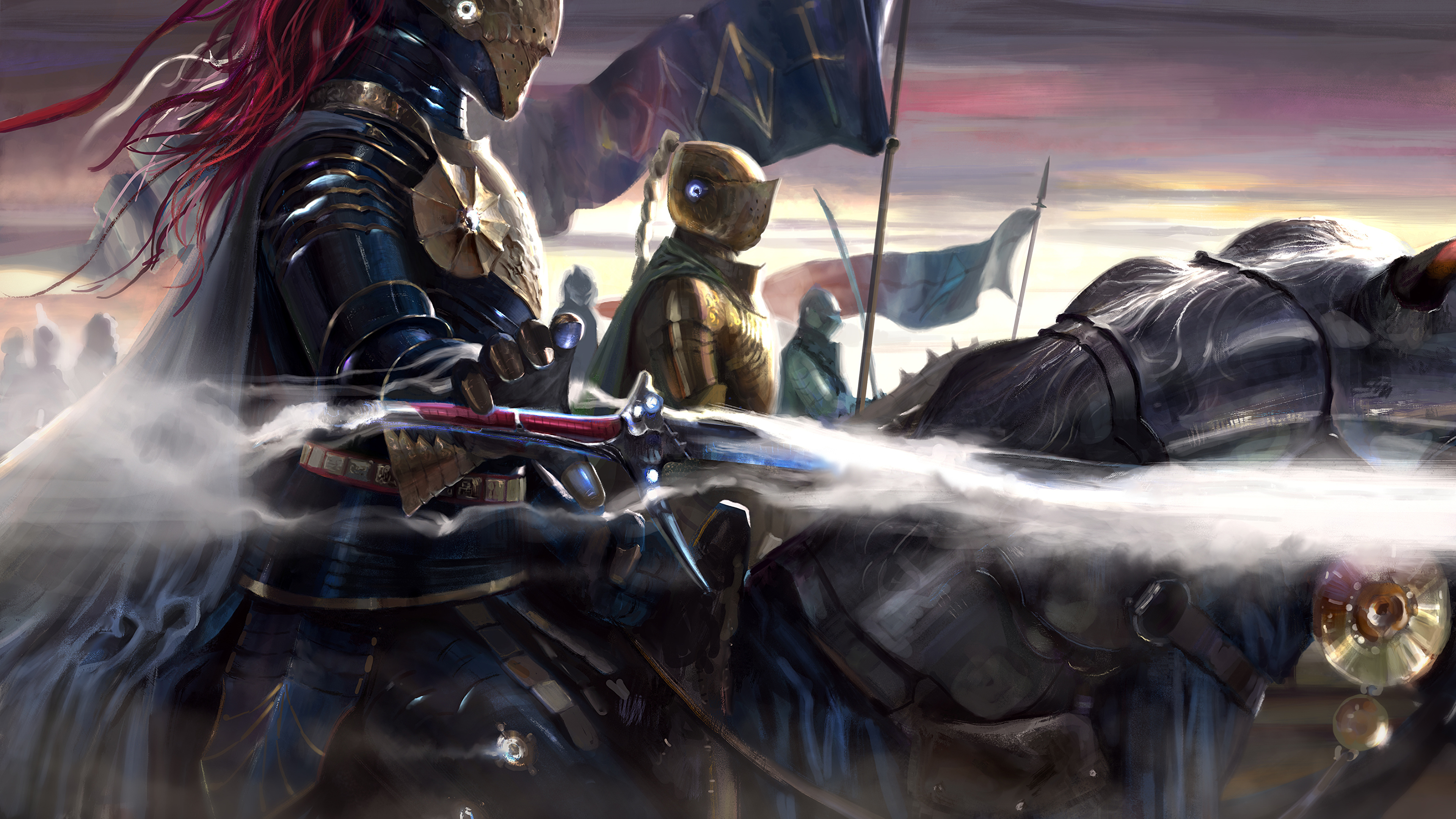 Photo Armor Knight Illustrations To Books Brandon 3840x2160