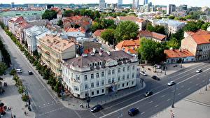 Fotos Litauen Haus Vilnius Straße