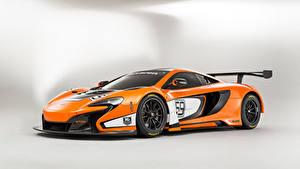 Papel de Parede Desktop McLaren Tuning Laranja Metálico 2014 650S GT3 automóveis