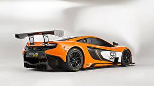 Papel de Parede Desktop McLaren Tuning Laranja Metálico De volta 2014 650S GT3 Carros