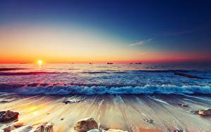 Fotos Meer Küste Sonnenaufgänge und Sonnenuntergänge Sonne
