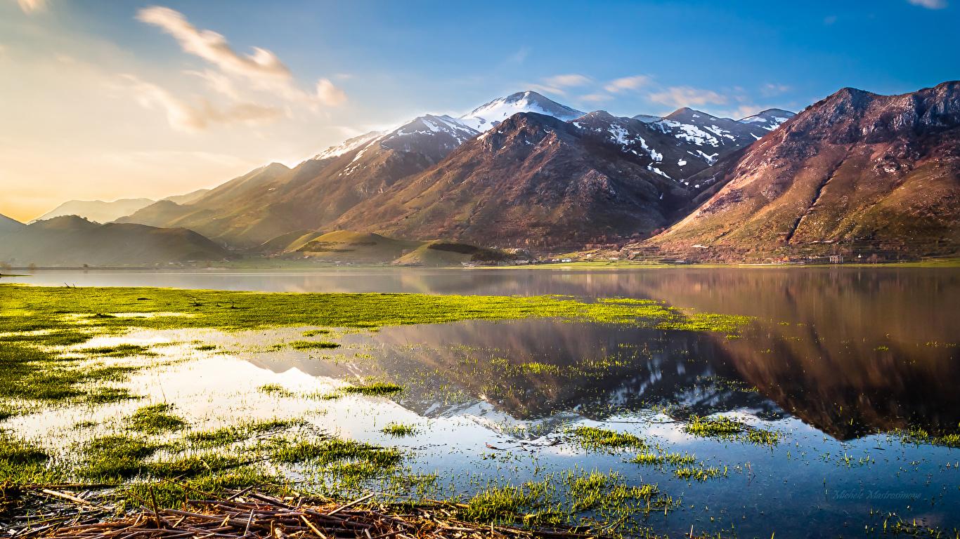 Fonds D Ecran 1366x768 Italie Lac Montagnes Photographie De