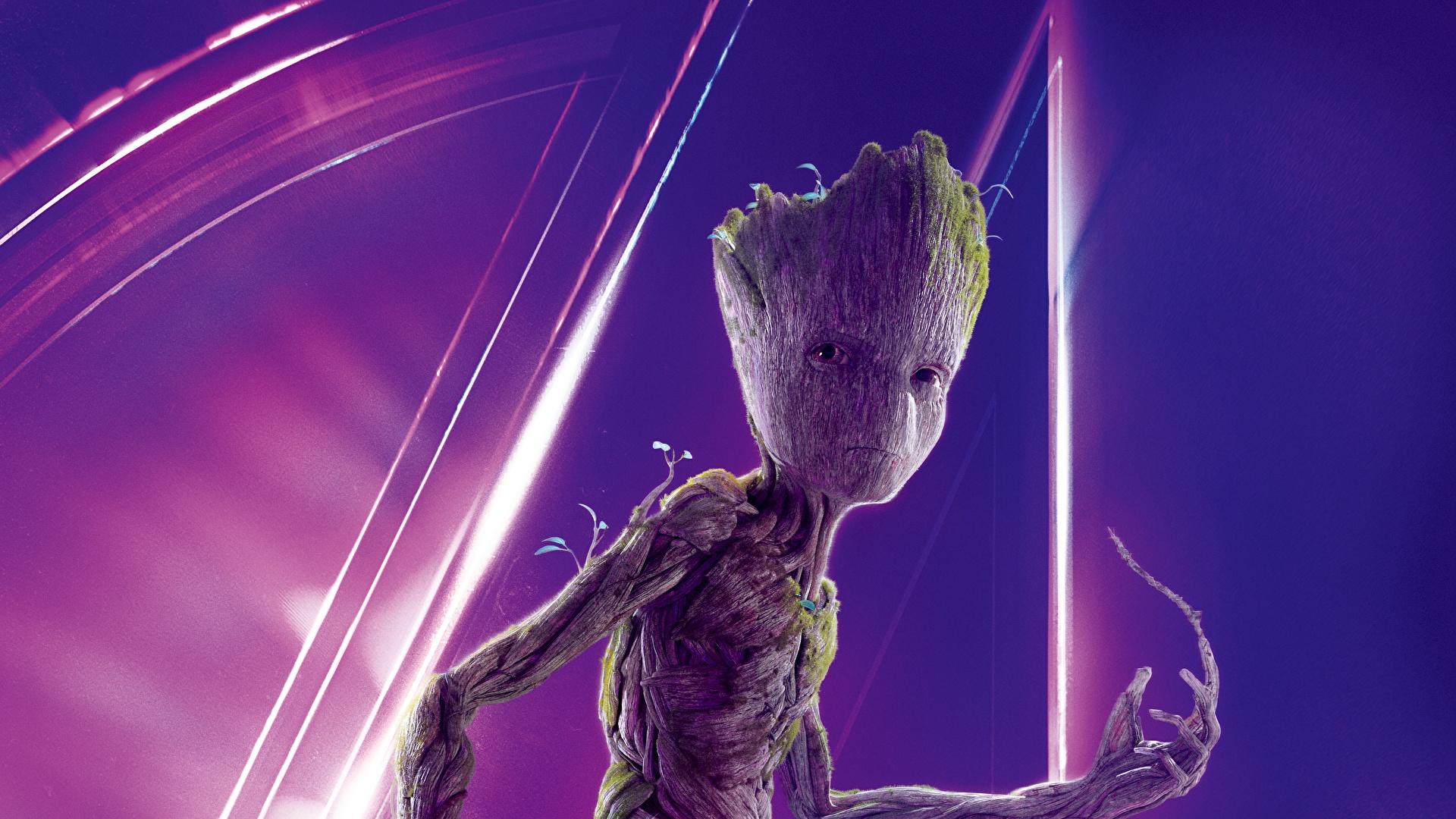 壁紙 19x1080 Avengers Infinity War ガーディアンズ オブ ギャラクシー リミックス Groot 映画 ダウンロード 写真
