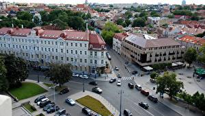 Fotos Litauen Haus Vilnius Stadtstraße Von oben