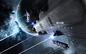 Photo EVE online Ships Planets Naga vdeo game Space Fantasy 3D_Graphics