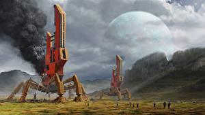 Image Fantastic world Technics Fantasy Planets Fantasy Space