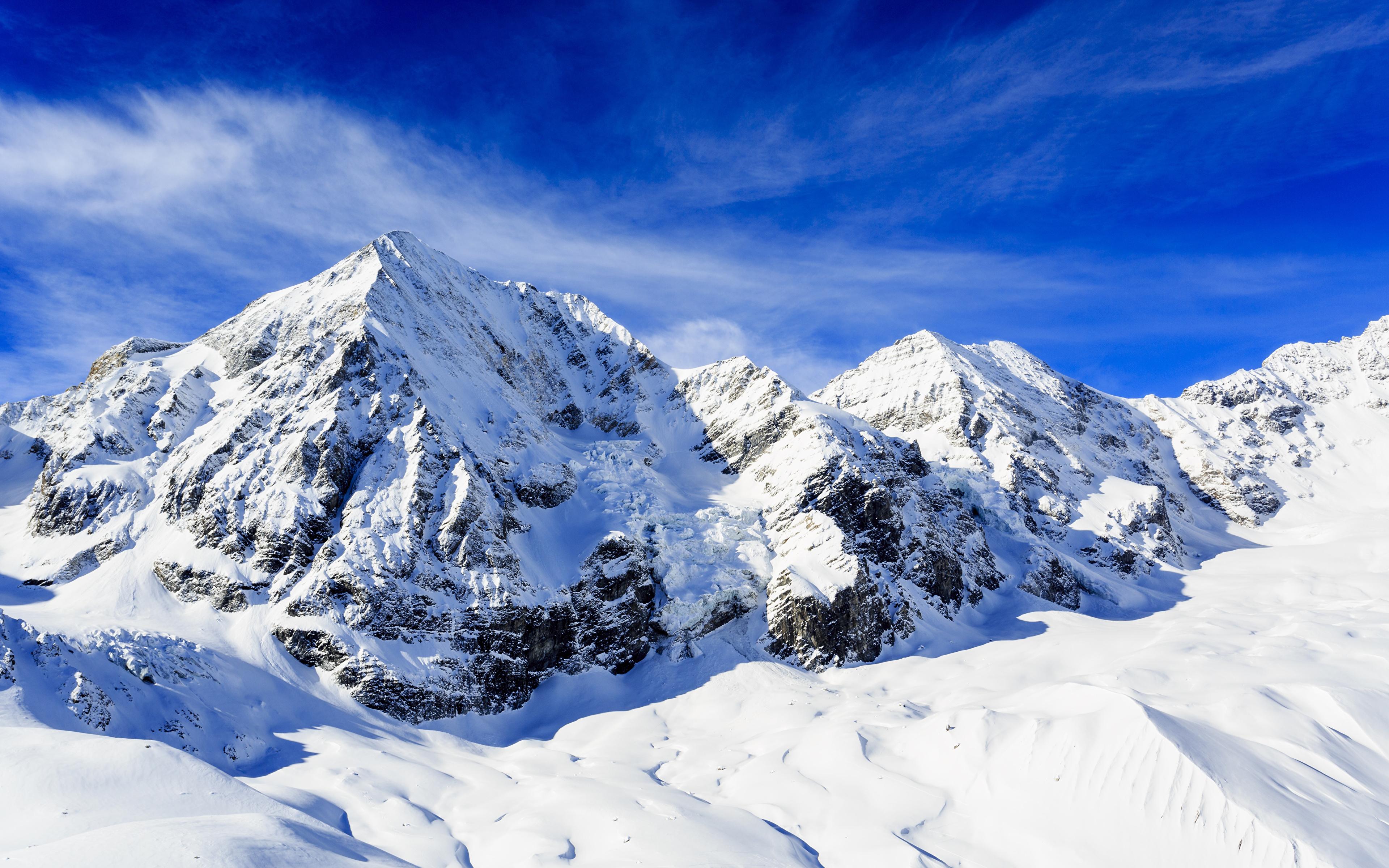 Fonds D Ecran 3840x2400 Montagnes Photographie De Paysage Ciel Neige Nature Telecharger Photo