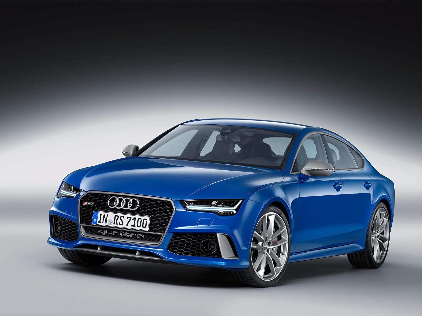 Desktop Wallpapers Audi Rs 7 Blue Auto 1600x1200