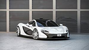 Papel de Parede Desktop McLaren Tuning Branco Metálico 2014 P1 (Wheelsandmore) automóveis