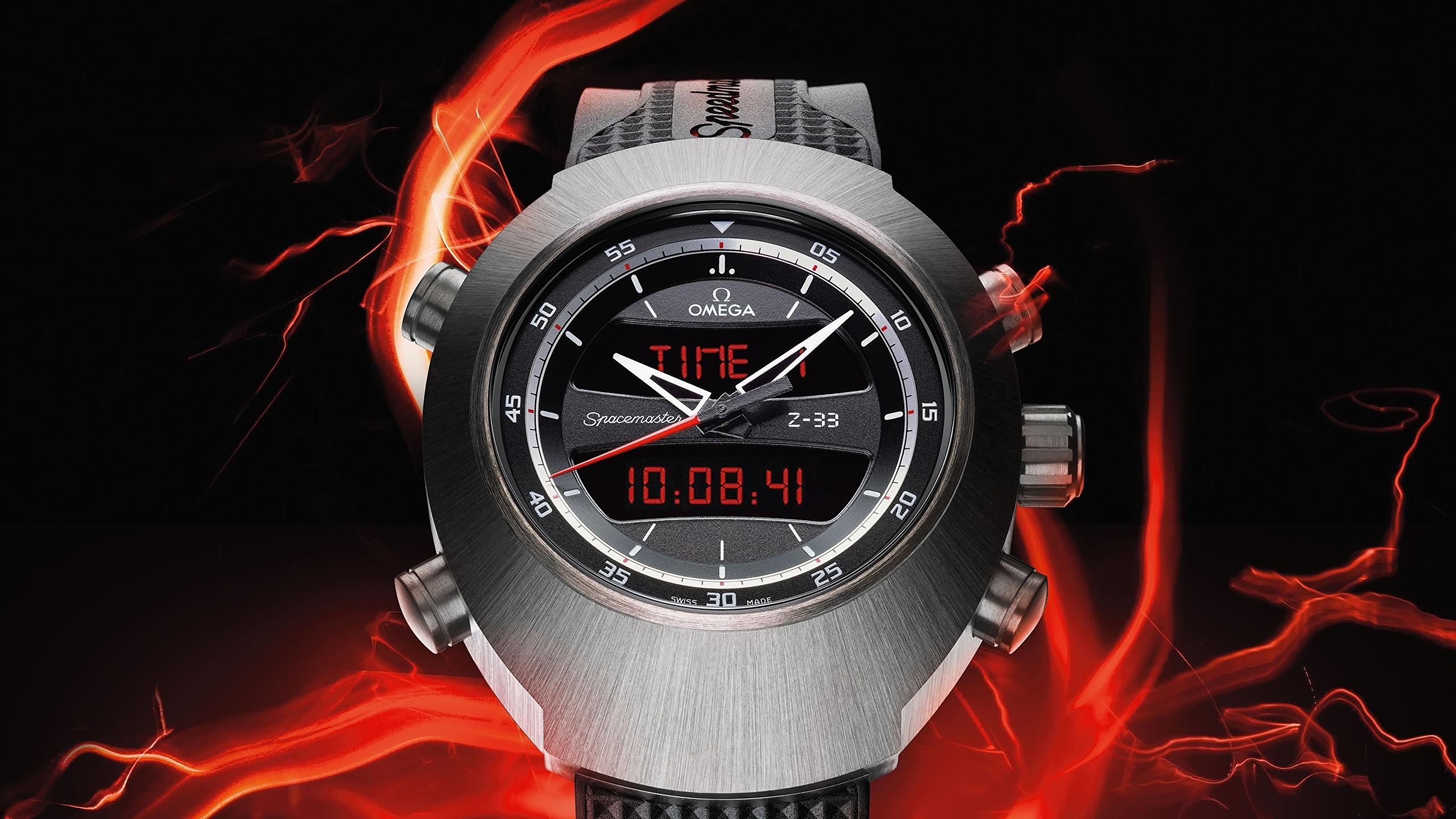 Photo Omega Speedmaster Z 33 Watch Clock Closeup 2560x1440