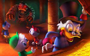 Hintergrundbilder Disney DuckTales – Neues aus Entenhausen Der Hut Scrooge McDuck, Huey, Dewey, and Louie