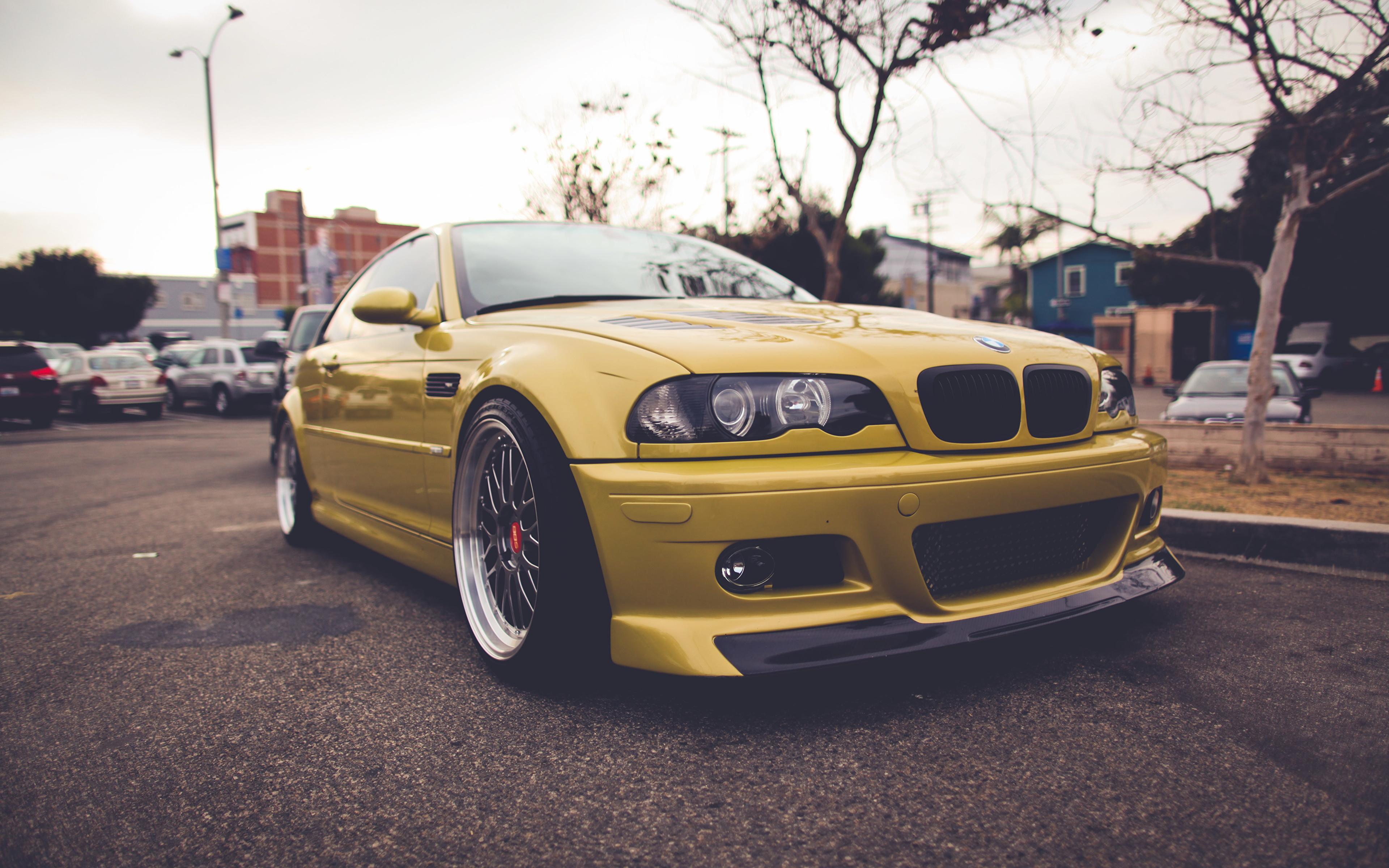 Images Bmw E46 Yellow Auto 3840x2400