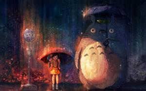 Hintergrundbilder Regenschirm My Neighbor Totoro Anime