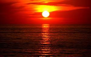 Fotos Sonnenaufgänge und Sonnenuntergänge Himmel Wasser Sonne