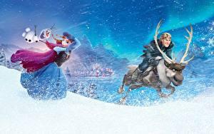 Bilder Die Eiskönigin – Völlig unverfroren Hirsche Anna, Kristoff