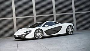 Papel de Parede Desktop McLaren Tuning Branco 2014 P1 (Wheelsandmore) automóveis