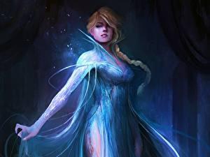 Bilder Die Eiskönigin – Völlig unverfroren Disney Zopf Blondine Elsa, Snow Queen Mädchens