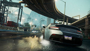 Wallpapers Need for Speed Need for Speed Most Wanted Bridges Asphalt Cars 3D_Graphics