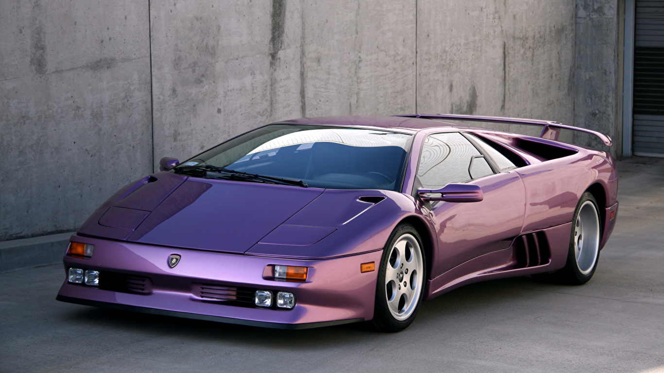 Photo Lamborghini 1994 95 Diablo Se30 Violet Auto 1366x768