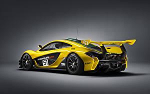 Bakgrundsbilder på skrivbordet McLaren Tuning Gul Bakifrån 2015 P1 GTR Bilar