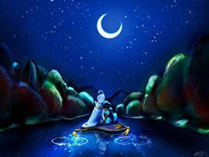 Bilder Aladdin Disney Mondsichel Mond