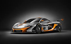 Bakgrundsbilder på skrivbordet McLaren Tuning Grå 2014 P1 GTR automobil