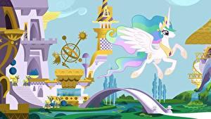 Bilder My Little Pony Einhorn Brücken Pegasos