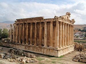 Fotos Ruinen Spanien Alte Baalbek, Lebanon, megaliths