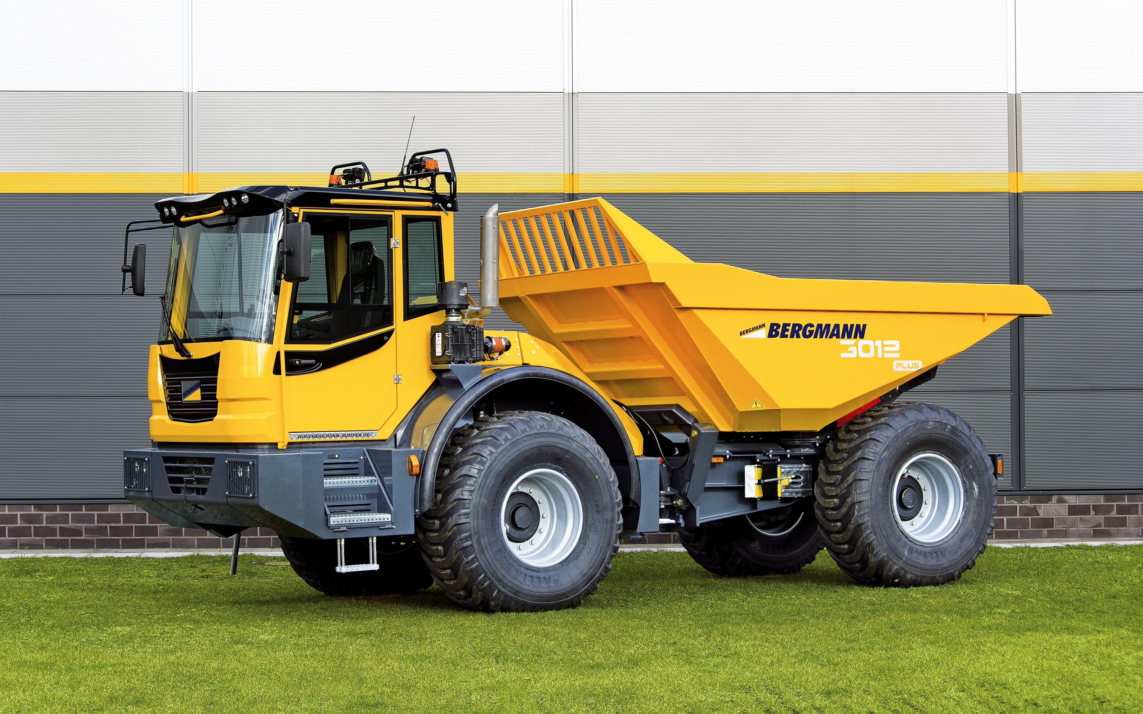 Pictures lorry 2016-17 Bergmann 3012 R PLUS Yellow Cars 3840x2400 Trucks auto automobile
