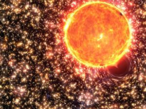 Hintergrundbilder Stern Sonne Schwarzes Loch Kosmos
