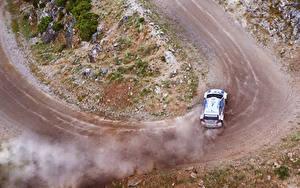 Fotos Volkswagen Wege Von oben Rallye Polo WRC auto Sport