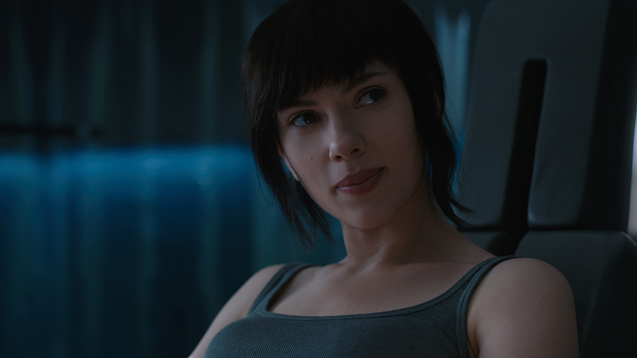 Image Scarlett Johansson Smile Ghost In The Shell Girls