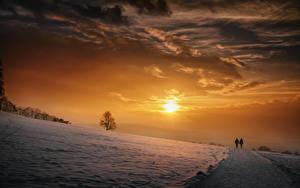 Fotos Himmel Winter Wolke Sonne Schnee Natur