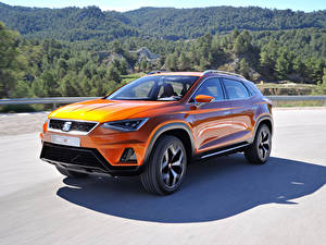 Bilder Seat Orange Metallisch 2015 20V20 automobil